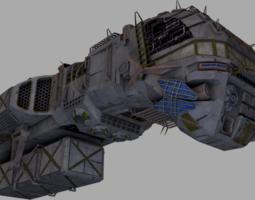 3D asset Morena smuggler ship