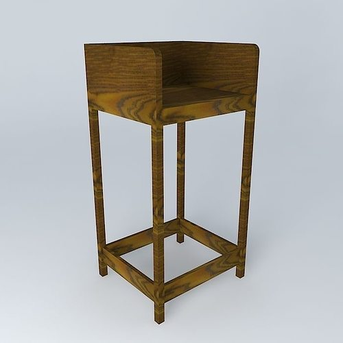 bar stool banqueta de bar free 3D Model MAX OBJ 3DS FBX STL DAE ...
