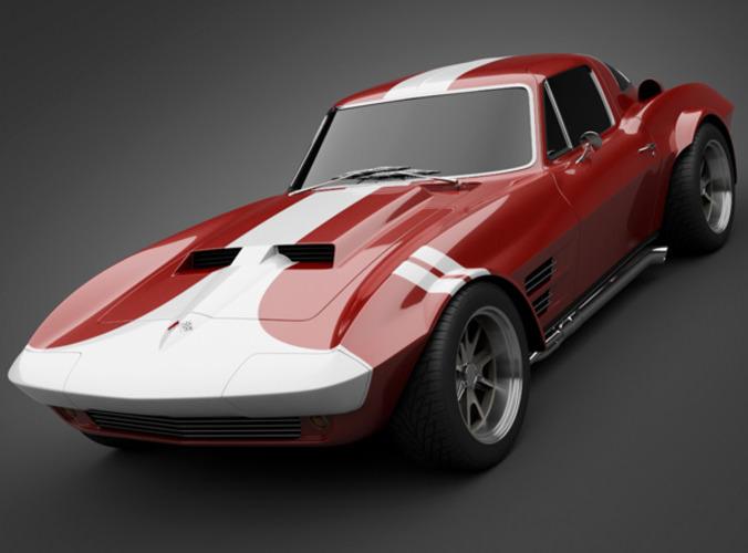 1965 GrandSport Corvette Sports Car3D model