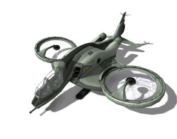 3D model SCI-FI AIRPLANE MOSQUITO