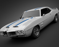 1969 pontiac firebird trans am 3d model max obj 3ds lwo lw lws