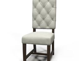 Ashton Tufted fabric chair 3D Model
