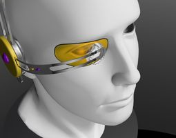 Headset Vewfinder Layered 3D Model