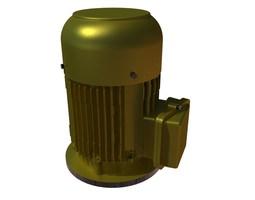 220v ac motor-flange mount 3D model