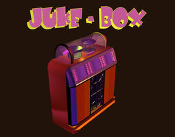 low-poly 3d asset low poly jukebox