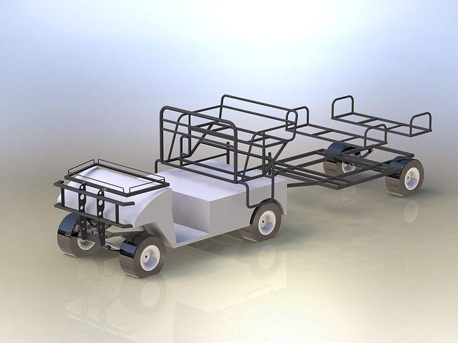 Basic frames of electric golf car