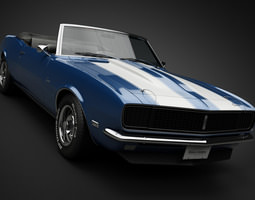 1968 Chevrolet Camaro RS Convertible 3D Model