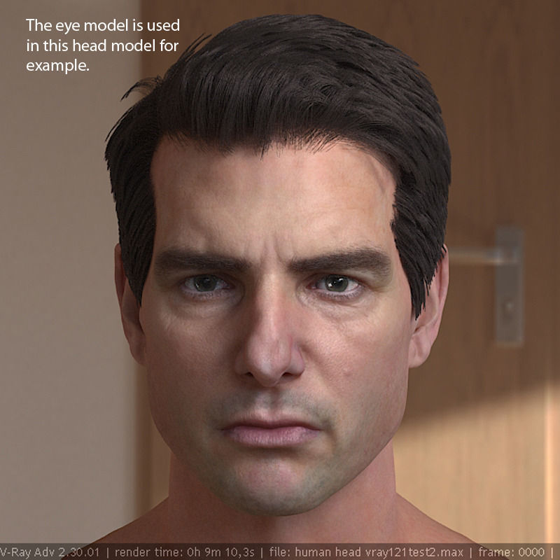 3d Model Human Eyeball Free Vr Ar Ready Cgtrader