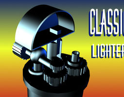 3d asset low poly classic lighter VR / AR ready animated
