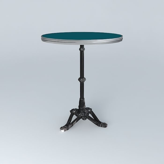 Bistro table ronde ardamez company 3d model max obj 3ds fbx stl dae cgtrade - Table ronde 8 couverts ...