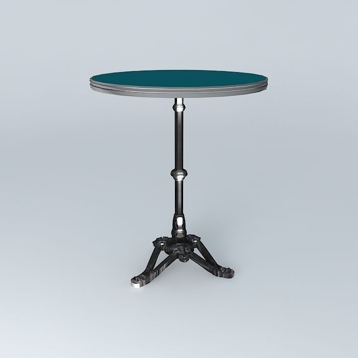 Bistro table ronde ardamez company 3d model max obj 3ds - Table ronde telescopique ...