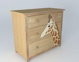 3d model baby giraffe kirikou convenient houses the world