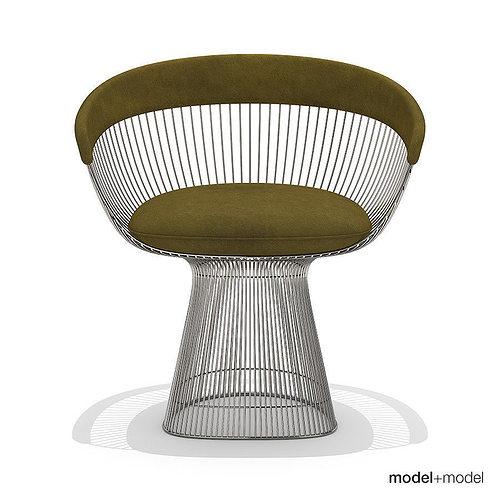 ... knoll platner armchair 3d model max obj 3ds fbx dxf mat 3 ...