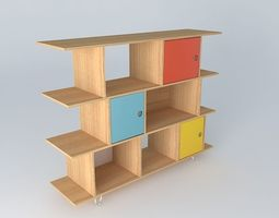 3d library children happy multicolored houses the world