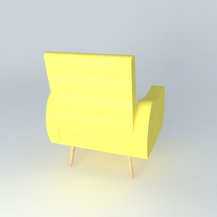 Chair waves yellow maisons du monde 3d model max obj 3ds for Maison du monde waves metz