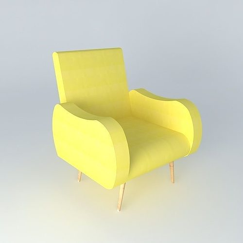 3d model chair waves yellow maisons du monde cgtrader for Maison du monde waves metz