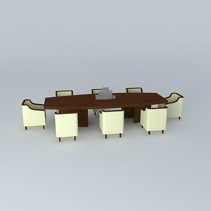 Silo dining table free 3d model max obj 3ds fbx stl dae for Dining room table 3ds max