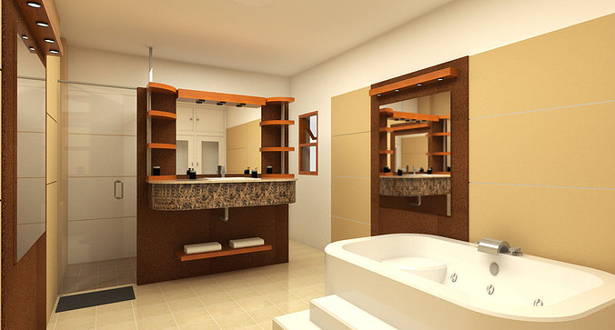 bathroom design 3d model skp 1