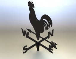 3D model Weather cock asm