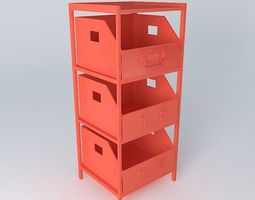 colors storage cabinet houses the world 3d model
