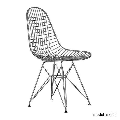 ... Eames Wire Chair Dkr 3d Model Max Obj Mtl 3ds Fbx Dxf Mat 5 ...