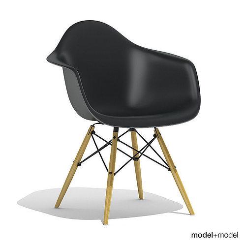 ... Eames Plastic Armchair Daw 3d Model Max Obj 3ds Fbx Dxf Mat 5 ...