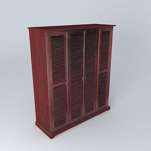 3d dressing planteur maisons du monde cgtrader. Black Bedroom Furniture Sets. Home Design Ideas
