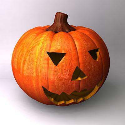 pumpkin 3d model obj mtl 3ds fbx c4d 1