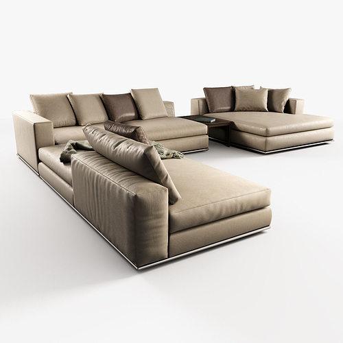 hamilton modular sofas 3d model max obj 1