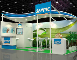 SEPPIC Booth 2012 3D Model