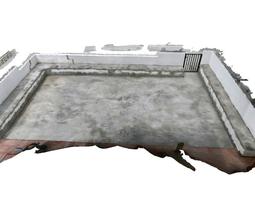 3d model low-poly concrete terrace