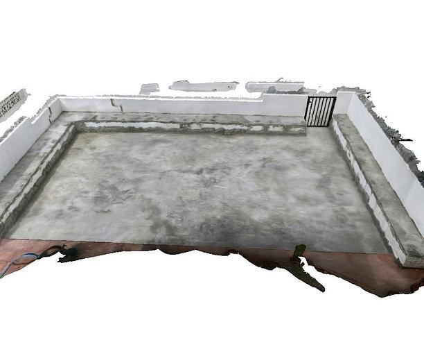 concrete terrace  3d model low-poly obj dxf mtl 1
