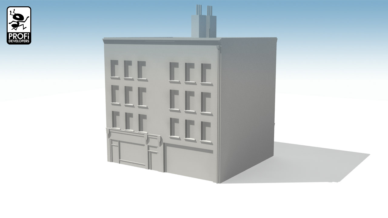 House 718 Urban Building 3d Model Game Ready Max Obj