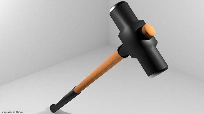 civil tool - sledge hammer 3d model obj mtl 3ds lwo lw lws blend dae 1