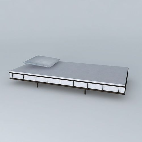 structure metal bed child savannah houses 3d model. Black Bedroom Furniture Sets. Home Design Ideas
