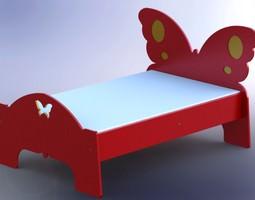 Butterfly bed 3D model