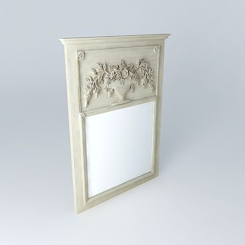 3d model mirror berlioz maisons du monde cgtrader for Model decoration maison