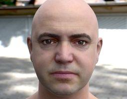 3d model human head 2 VR / AR ready