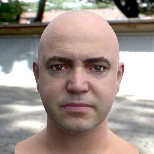 3d model human head 2 3d model obj mtl blend 1