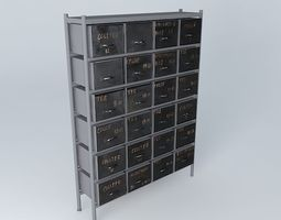 cabinet houses the world  3D Model