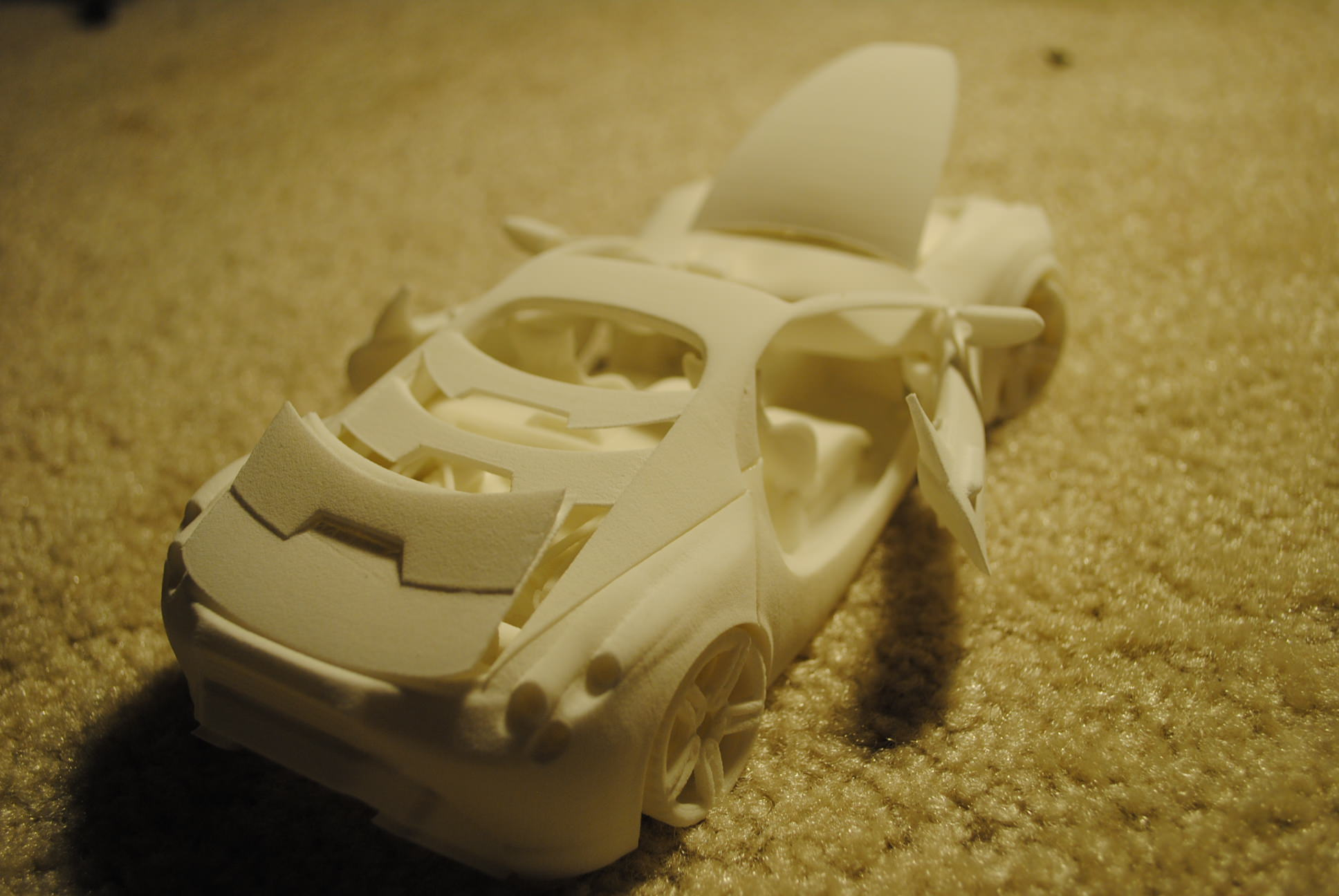 3d printable car with movable doors hoods free 3d