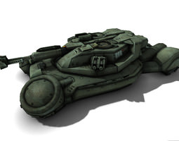 scifi tank 3d model low-poly max obj fbx rfa