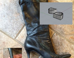 3D printable Woman Boot Heel