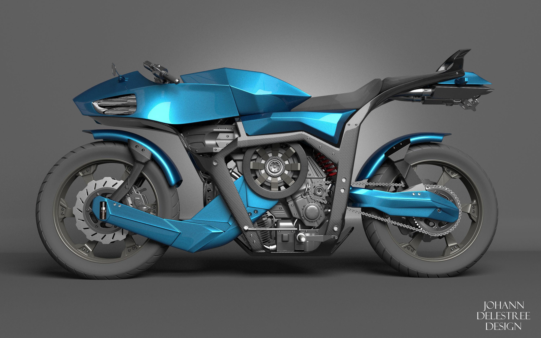 Futuristic motorcycle | 3D model