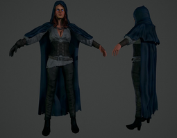witch game-ready 3d model