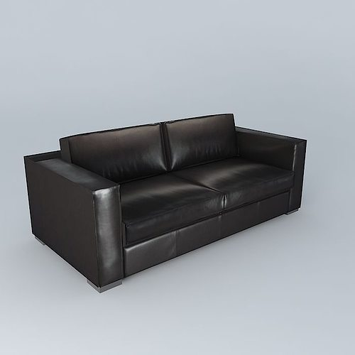 berlin brown leather sofa houses the world 3d model max. Black Bedroom Furniture Sets. Home Design Ideas