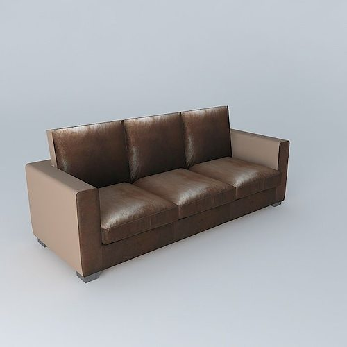 3d brown sofa kennedy maisons du monde cgtrader. Black Bedroom Furniture Sets. Home Design Ideas