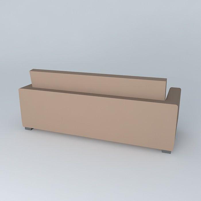 Brown Sofa Kennedy Maisons Du Monde 3d Model Max Obj