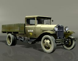 GAZ-AA Lorry 3D model VR / AR ready