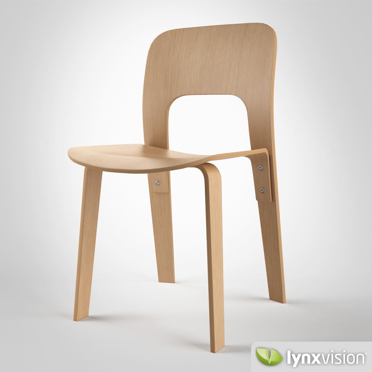chair 2944 20 by jasper morrison 3d model max obj fbx. Black Bedroom Furniture Sets. Home Design Ideas